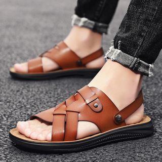 BELLOCK - Plain Faux Leather Sandals