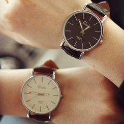 Tacka Watches - Couple Faux-Leather Strap Watch
