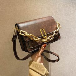 Bagtrix - Faux Leather Buckled Crossbody Bag