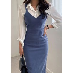 chuu - H-Line Long Bustier Dress
