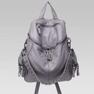 Annmuu(アンムー) - Faux-Leather Studded Backpack