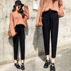 Indiclofie - Cropped Straight Leg Dress Pants