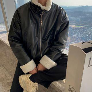 MRCYC - Fleece-Lined Faux Leather Jacket