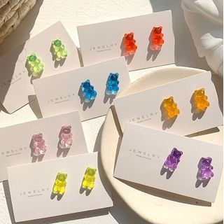 Admae - Plastic Gummy Bear Earrings