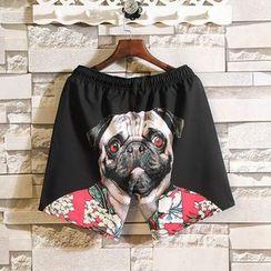 Andrei - Pug Print Shorts