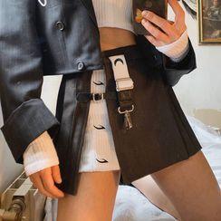 HERMITAKH - Two Tone Layered Mini Skirt