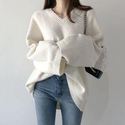 Sienne - Plain V-Neck Sweater