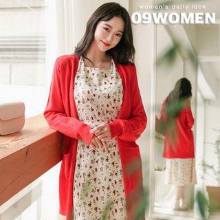 Seoul Fashion - PLUS SIZE V-Neck Cardigan in 9 colors