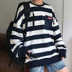 Tiaota - Striped Pocket Sweatshirt