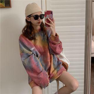 MyLeanna - Couple Matching Tie-Dye Long Sleeve Sweatshirt