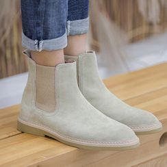 VEAZ - Genuine Leather Paneled Short Boots