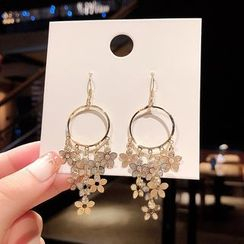 HANJUE - Flower Chandelier Earring