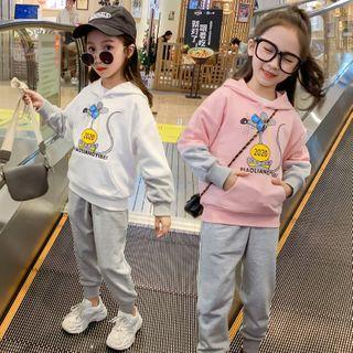 Qin Qin - 套装: 小童老鼠印花连帽衫 + 慢跑裤