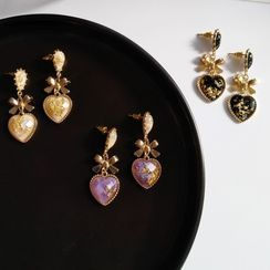 Noverkski - Resin Heart And Bow Drop Earring