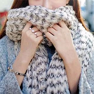 FROME - Melange Cable Mohair Neck Scarf