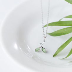 A'ROCH - 925 Sterling Silver Leaf Pendant Necklace