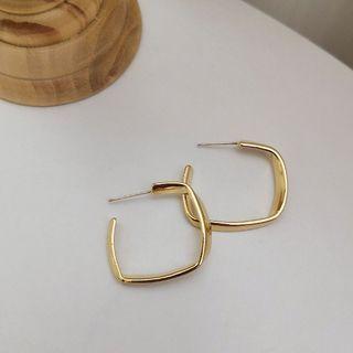 Kinkoza - Alloy Open Square Earring