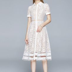 Seire - Lace Midi A-Line Dress