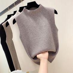 Think Velvet - Mock Neck Knit Vest