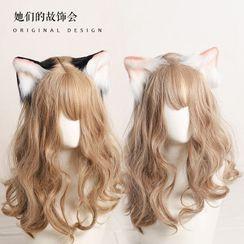AOI - Cat Ear Chenille Hair Clip