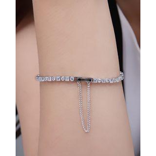 Miss21 Korea - Full-Rhinestone Bracelet