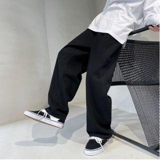JUN.LEE - Plain Wide Leg Pants
