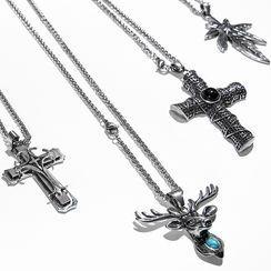 Stunda - 十字架吊坠不锈钢项链