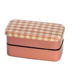 Hakoya - Hakoya Nunobari 2 Layers Lunch Box S Hoccori Pink
