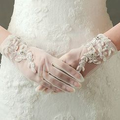 Neostar - Faux Pearl Wedding Gloves