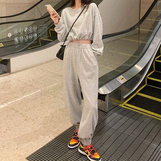 Luna Rouge - 套裝: 短款衛衣 + 運動褲