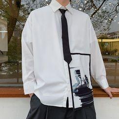 DuckleBeam - 長袖圖案印花襯衫