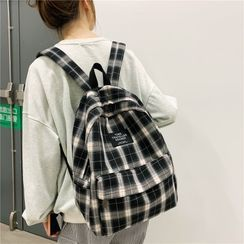 Evanki - Plaid Canvas Backpack