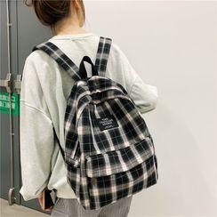 Evanki - 格子帆布背包
