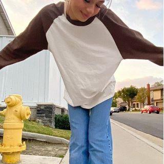 Honet - Plain Raglan Sleeve T-Shirt