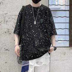 Dukakis - Short-Sleeve Splatter Print T-Shirt