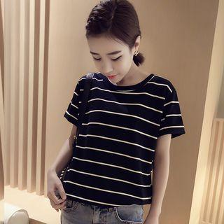 Hevnir - Striped Short-Sleeve T-Shirt