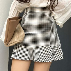 Yako - Gingham Mini Skirt