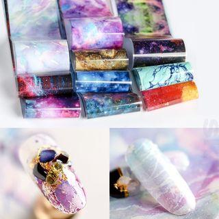 WGOMM - Galaxy Transfer Nail Art Stickers