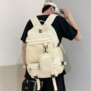 SUNMAN - Buckled Mesh Paneled Backpack