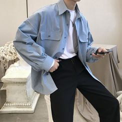 COSH - Long-Sleeve Plain Shirt