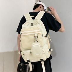 SUNMAN(サンマン) - Buckled Mesh Paneled Backpack