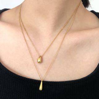 UNPACK - Stainless Steel Droplet Pendant Necklace