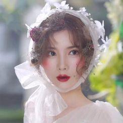 Onngak - Wedding Floral Mesh Headband