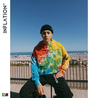 Newin - Tie-Dyed Printed Hoodie
