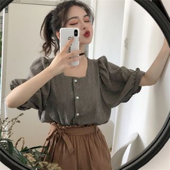 Anlay - 中袖方領襯衫 / 高腰短褲