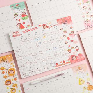 SASHI - Fruit Cartoon Print Monthly Wall Planner