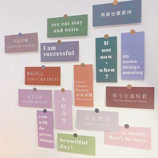 Yunikon - Lettering Postcard Hanging Decoration