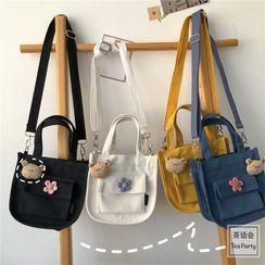 Chestnut Party - Top Handle Canvas Crossbody Bag