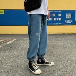 YERGO - 字母直筒牛仔褲