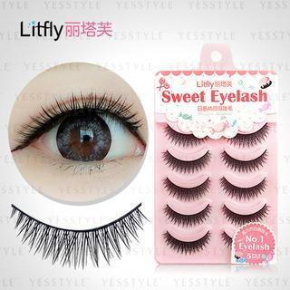 Litfly - Set of 5 pairs: False Eyelashes #125